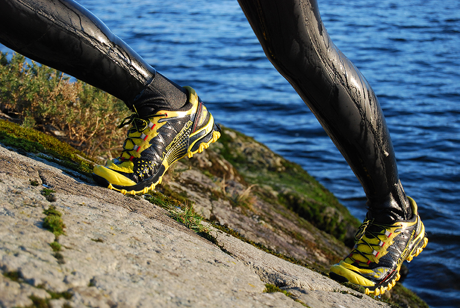 La Sportiva Bushido Swimrun shoe review swimming in snowdonia