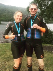 Love Swimrun Llanberis, Nicolas Dewalque and Katy Nelson