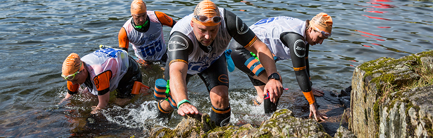 Swimrun transition training