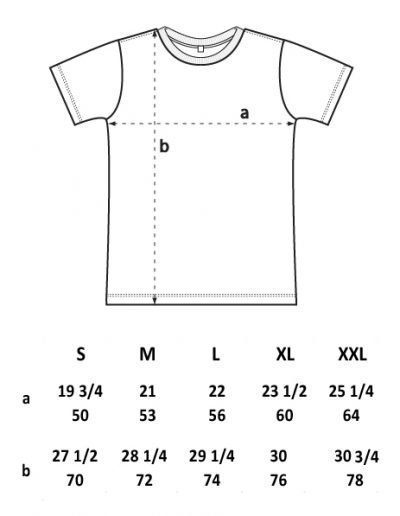 Men's t-shirt sizes