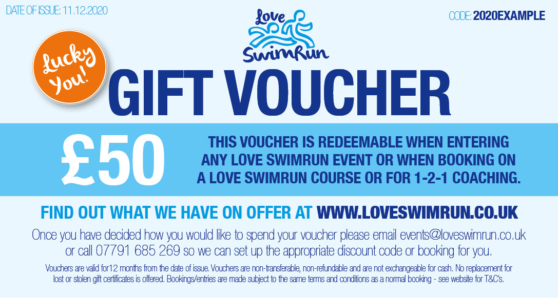 Love SwimRun gift voucher
