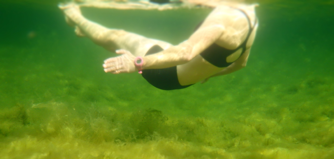 Floating while wild swimming